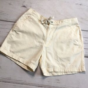 OP Shorts Yellow Pockets Tie Size 6